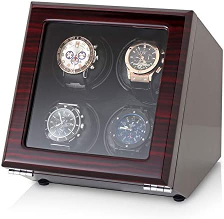 4 Watch Winder with Motor-Stop Option and Quiet Rotors