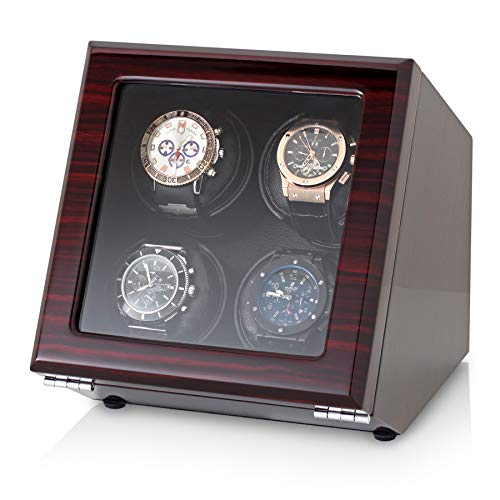 - Quad Watch Winder with Motor-Stop Option and 4 Predefined Programs (Ebony)