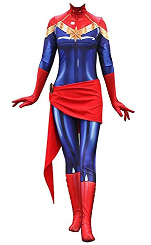 Red Dot Boutique 502 - Lady Captain Spandex Bodysuit Zentai Cosplay Halloween Costume (2) M (Height 5'1