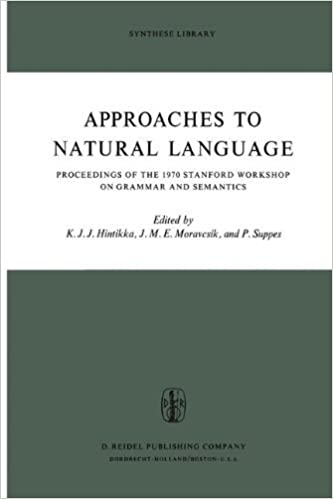 approaches to natural language hintikka jaakko suppes patrick moravcsik j m e