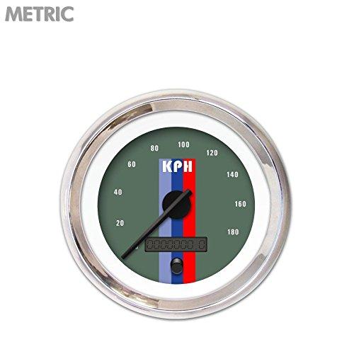 GAR168ZMXHABCC Aurora Instruments Vintage Autobahn Ash Speedometer Gauge