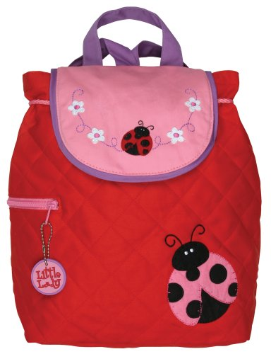 (Stephen Joseph Little Girls'  Quilted Backpack Ladybug,Red/Pink,One Size)