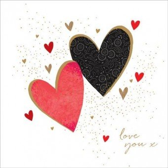 JAZ & Baz tarjeta por Sara Miller. Dos corazones, Love You X ...