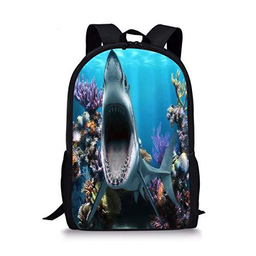 - JDSGFJbackbagTY Shark Coral Reef Cute Fantasy Custom Casual Backpack College School Bag Travel Daypack