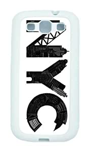 Samsung Galaxy S3 I9300 Case,WENJORS Personalized NYC Soft Case Protective Shell Cell Phone Cover For Samsung Galaxy S3 I9300 - TPU White