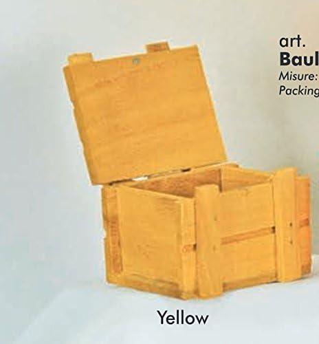 12 piezas Caja Baúl de madera amarillo portaconfetti BOMBONIERA: Amazon.es: Hogar
