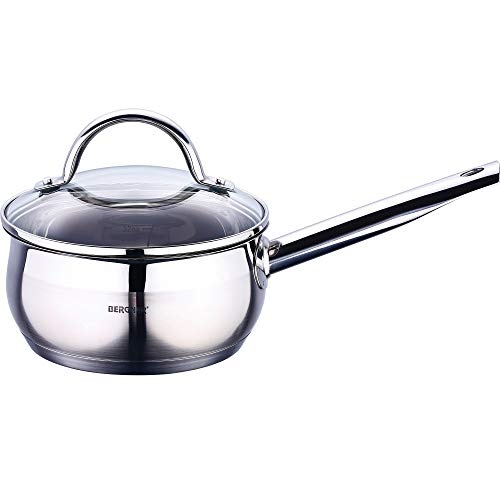 Bergner Gourmet - Saucepans Stainless Steel 16x7.5 cm 1.3l Suitable for Induction (Best Stainless Steel Cookware Uk)