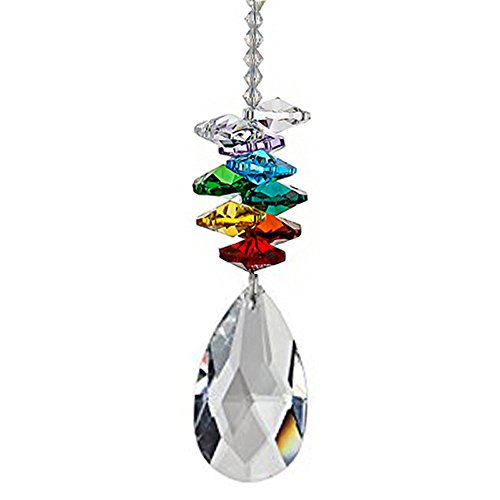 - NszzJixo9 Crystal Ball Pendant - Accessories Colorful Octagonal Octagonal Hanging Drop, Car Pendant Crystal Chandelier Pendants Parts Glass Beads (A)