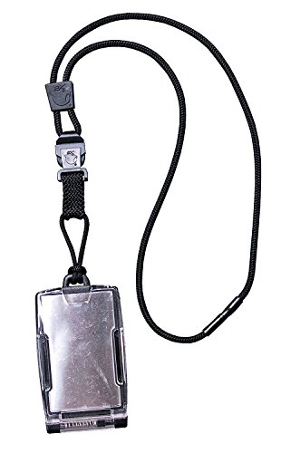 Ek Usa Fips 201 One Hander Id Card Holder With Lanyard  Secure Badge Holder For Cac Card  2 Sided   Black