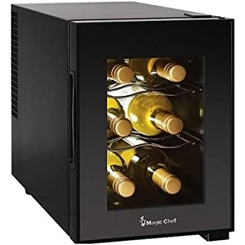 Amazon.com: Compact 6 Bottle 2 Shelf Wine Cooler Cabinet Mini ...