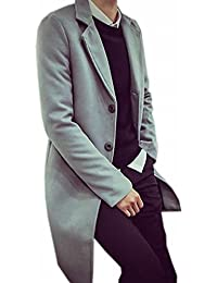 Men's Leisure Sliod Thicken Long Pea Coat