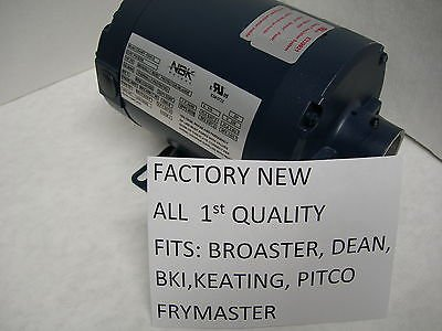 New Haight-Nbk Hot Oil Motor Fits Dean Bki Keating Frymaster Pitco Fry Filters by HAIGHT NBK ROASTER'S OWN
