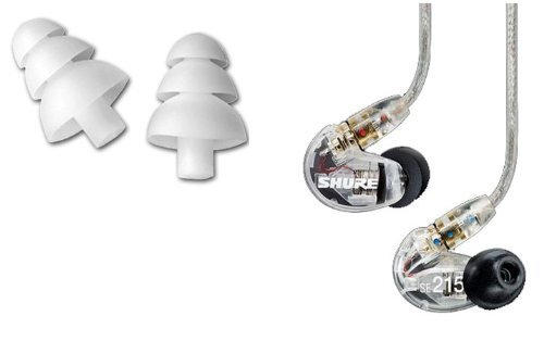 Shure-SE215-CL-Sound-Isolating-In-Ear-Stereo-Earphones-Clear-with-3-Pairs-of-Triple-Flange-Sleeves-for-Better-Sound-Isolation