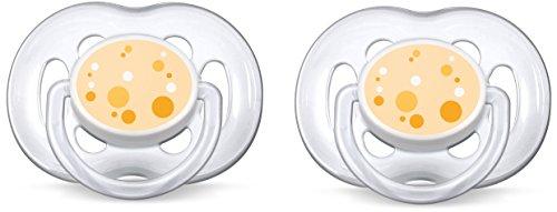 Philips AVENT SCF180/54 Beruhigungssauger 6-18 Monate (Unterstützung für Orange Babies) 2 Stück, organge