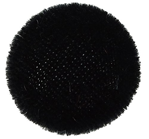 Black Velvet Button - 12 Pieces Solid 2 Holes Sewing Velvet Fabric Cloth Covered Scrapbooking Craft Buttons