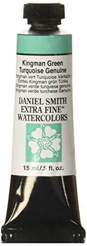 DANIEL SMITH Extra Fine Watercolor 15ml Paint Tube, Kingman Green Turquoise Genuine