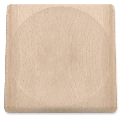 Triangle Germany Mezzaluna Board, Professional-grade Cutting Block with Hollow Center, Compatible with Curved Chopping Knives, Made from Sustainable Beechwood by TRIANGLE (Image #1)