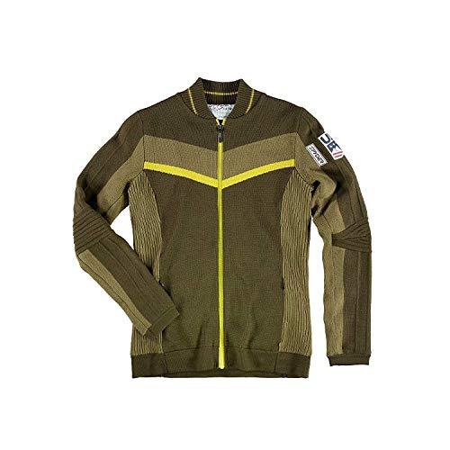 Spyder Active Sports Women's U.S. Ski Team Era GORE-TEX Infinium Lined Full Zip Sweater,  Sarge,  X-Small