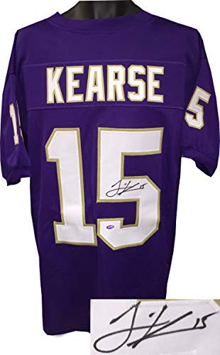 best authentic ec9fa 0f32d Jermaine Kearse Autographed Signed Purple Custom Stitched ...