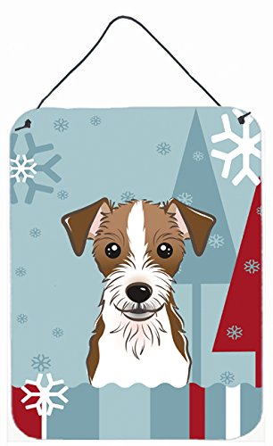 Carolines Treasures Winter Holiday Jack Russell Terrier Wall or Door Hanging Prints BB1698DS1216 16HX12W Multicolor