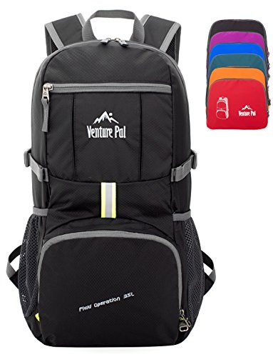 Venture Pal 35L Travel Backpack - Packable Durable Lightweight Hiking Backpack Daypack by Venture Pal