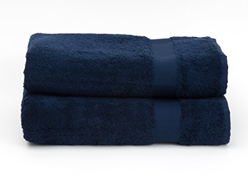 TowelSelections Pearl Collection Luxury Soft Towels – 100% Turkish Cotton, Made in Turkey, Navy, 2 Bath - Wholesale Versace
