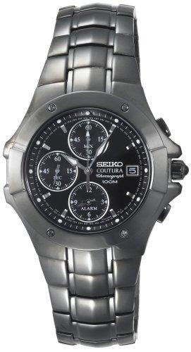 Seiko Men's SNAC41 Coutura Alarm Chronograph Watch