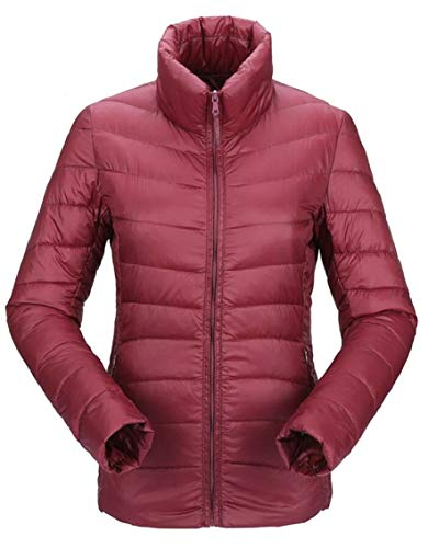 Jacket Gocgt Down Packable Women's Outdoor Coats Wine Down Puffer Red gqqwIFxp1