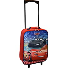 """Disney Pixar Cars 3 Lightning MCQueen 15"""" Collapsible Wheeled Pilot Case - Rolling Luggage"""
