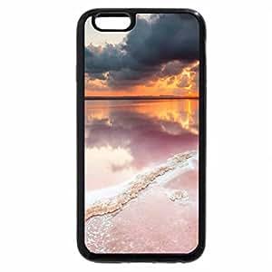 iPhone 6S / iPhone 6 Case (Black) wonderful sunset on a pink salt lake