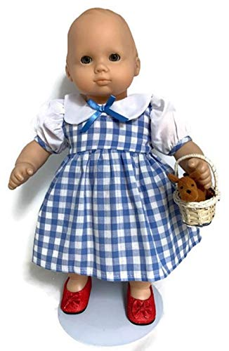(15 inch Doll Clothes fits Bitty Baby and Bitty Twin Dolls Dorothy Dress, Red Shoes, Toto and Basket)