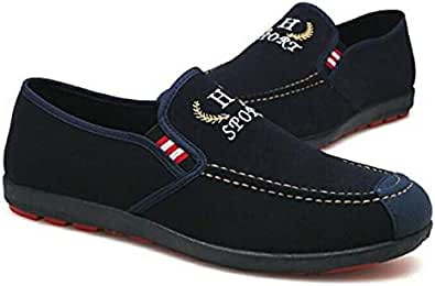 Navy Blue Slip On For Men