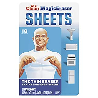 Mr. Clean Magic EraserCleaning Sheets, The Power of a Magic Eraser in a Thin, Flexible, Disposable Sheet, 16 Count