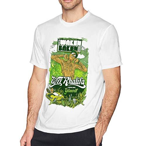 TERRY GARRARD Wiz Khalifa Adorable Music Band Men's Short Sleeve T-Shirt White 3XL