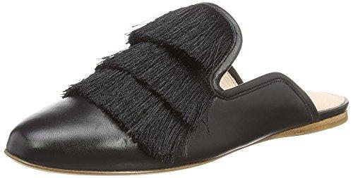 Rachel Zoe Vrouwen Kaius Flat Fringe Slippers Zwart (black 001)