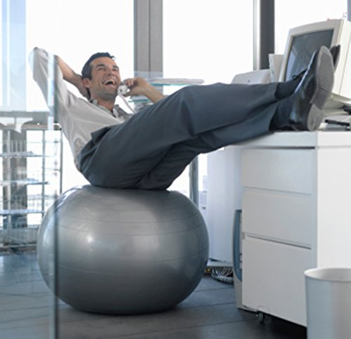 CalCore Exercise Ball Chair From Professional Strength Antiburst Ball with Hand Pump for Office, Yoga, Stability and Fitness by CalCore (Image #1)