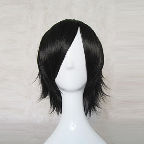 Price comparison product image CODE GEASS Lelouch Vi Britannia Black Short Cosplay Wig + Free Wig Cap