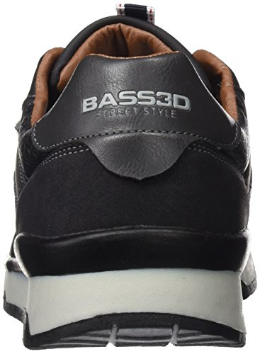 bass3d Herren 040147 Low-Top Black (Schwarz)