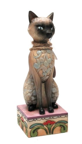 Jim Shore Heartwood Creek from Enesco Siamese Cat Figurine 7.25 IN