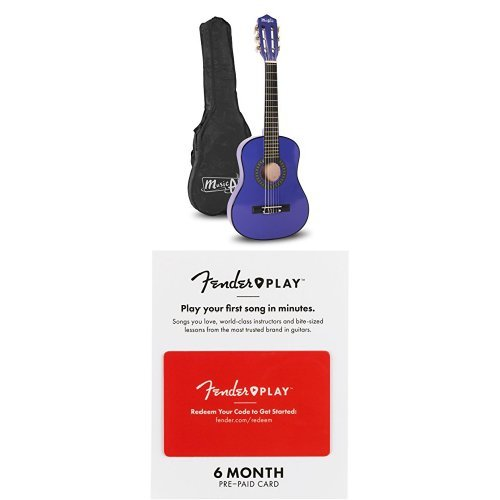 Music Alley MA-52 30'' Half Size Junior Guitar For Young Kids with 6 Months of Fender Play by Music Alley