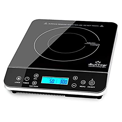 Duxtop Portable Induction Cooktop, Countertop Burner Induction Hot Plate with LCD Sensor Touch 1800 Watts