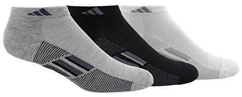 adidas Women's Superlite Stripe Low Cut Socks (3-Pair), Light Grey Heather/Onix/Night Grey Black/Onix/Ligh, Medium, (Shoe Size 5-10) (Flashlight Sx)
