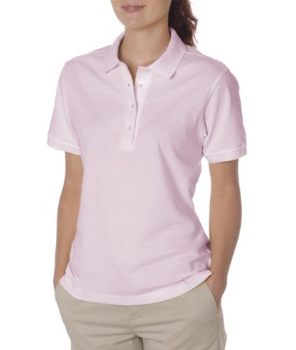 Jerzees 437W Ladies 50-50 Jersey Golf Shirt, Classic Pink - Extra Large