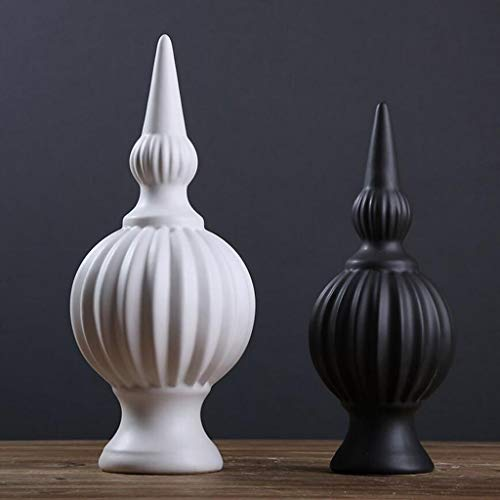 Easyflower Home Decoration Collection Ideas Crafts Decor Work of Art Modern Minimalist Black and White Ceramic Sculpture Crafts Ornaments Bedroom Bedside Office Living Room Abstract Bauble