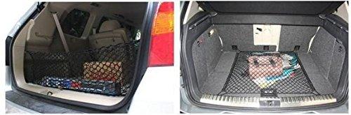 Racksoy Mehrzweck Auto Kofferraum Hintere Lagerung Gep/äck-Seil Gep/äcknetz Ladenetz Lagernetz Dehnbar 110*60cm//43x24 Organizer mit 4 Haken f/ür Kfz Gel/ändewagen Van usw.