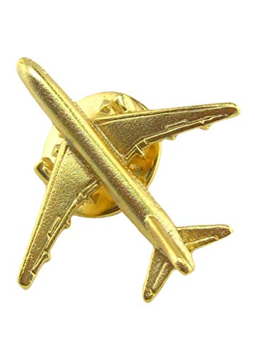 Across The Puddle, Ancient Aliens and Aviation Jewelry Collection, Collectible Airbus 24k Gold Plated Lapel Pin