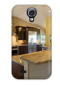 Fashionable CatDLPA7925WKfOD Galaxy S4 Case Cover For Contemporary Yellow Kitchen With Two-level Counter Protective Case