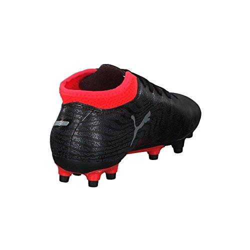 Puma Unisex-Kinder One 18.4 FG Jr Fußballschuhe schwarz / silber