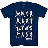 Boys Fortnite Short Sleeve Graphic T-Shirt Boogie Dance Moves (Medium (10/12)) Blue