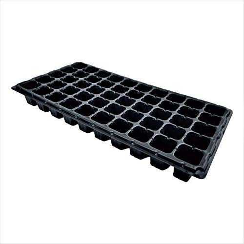 (50 Cell Seedling Trays Extra Strength, 60 Pack, Seed Starter Tray for Planting, 1020 Inserts, Plugs, Soil)
